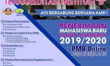 PENERIMAAN MAHASISWA BARU TAHUN AJARAN 2019/2020