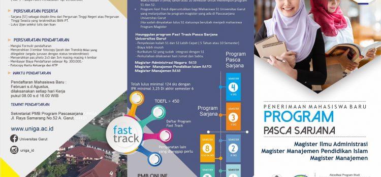 Brosur Program Pascasarjana Universitas Garut Tahun Akademik 2020-2021