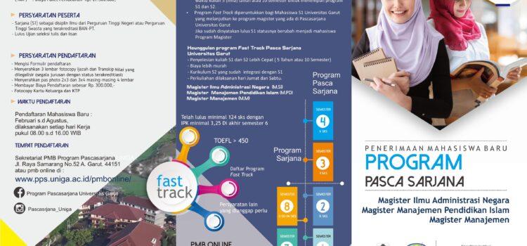 Brosur Program Pascasarjana Universitas Garut Tahun Akademik 2021-2022