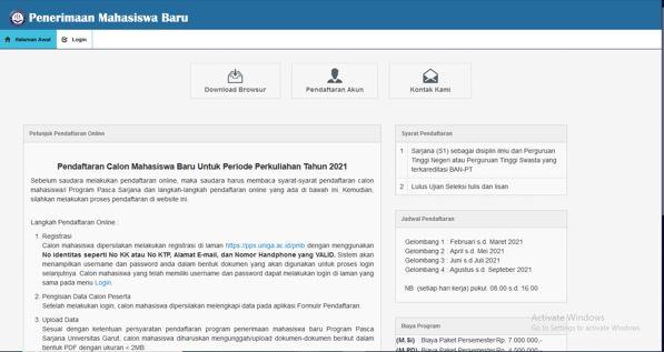 PANDUAN PMB ONLINE